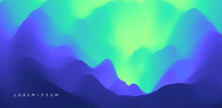 Geheimnisvoller Landschaftshintergrund. Mystische Vektor-Illustration. Trendige Farbverläufe. Kann für Werbung, Marketing, Präsentation verwendet werden.