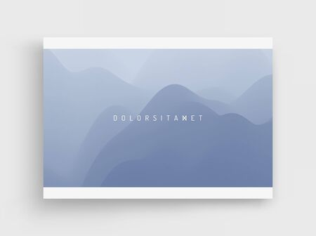 Cover design template. Landscape with mountains and sun. Sunrise. Mountainous terrain. Abstract background. Vector illustration.  Illustration