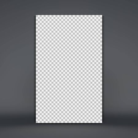 Photo frame mockup. Chess board background. Blank space for your design. Vector illustration.   Ilustração