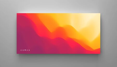 Mountain landscape with a dawn. Sunset. Mountainous terrain. Hills silhouette. Abstract background. Vector illustration.  矢量图像