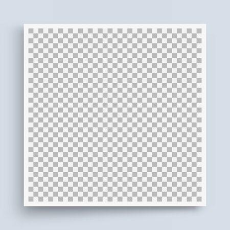 Fotorahmenmodell. Schachbretthintergrund. Leerzeichen für Ihr Design. Vektor-Illustration.