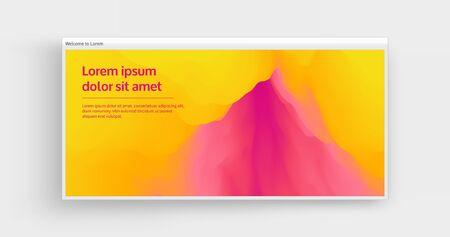 Creative design template with vibrant gradients. 3d vector Illustration for advertising, marketing, presentation. Perspective view.  Ilustração