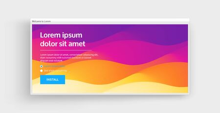 Website or mobile app landing page. Abstract background with dynamic effect. Modern pattern. Vector illustration for design.