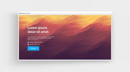 Website or mobile app landing page. Abstract background with dynamic effect. Modern pattern. Abstract background. Vector illustration.