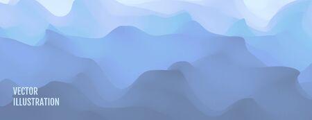 Blue abstract ocean seascape. Sea surface. Water waves. Nature background. Vector illustration for design. Ilustração