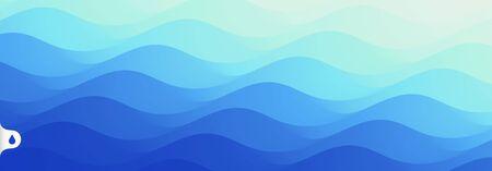 Water surface. Blue abstract background. Vector illustration for design. Ilustração