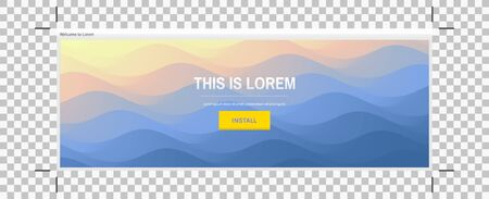Website or mobile app landing page. Water surface. Blue abstract background. Vector illustration for design.