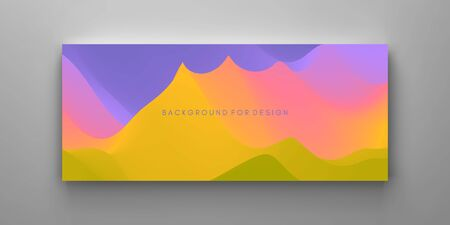Creative design template with vibrant gradients. 3d vector Illustration for advertising, marketing, presentation. Perspective view.  Çizim