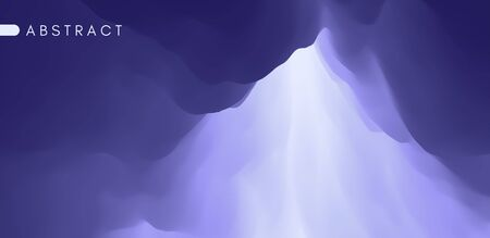 Sky with clouds. Sun rays bursting through the clouds. 3d vector Illustration.