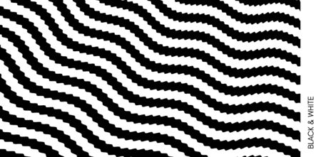 Black and white design. Pattern with optical illusion. Abstract 3D geometrical background. Vector illustration. Archivio Fotografico - 140583393
