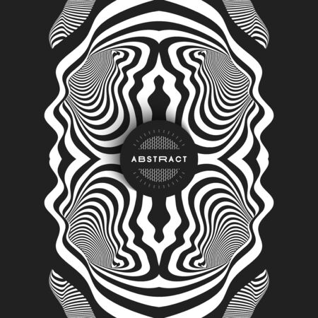 Pattern with optical illusion. Abstract striped background. Vector illustration. Illustration