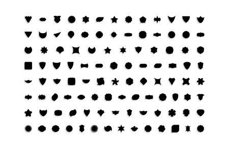 Set of empty geometrical shapes. Collection of design elements. Vector illustration for badge, label or sticker. Illustration