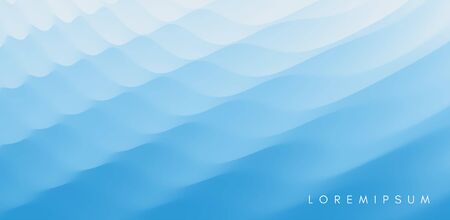 Water surface. Blue abstract background. Vector illustration for design. Illustration