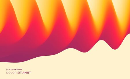 Abstract fluid sound wave. Background with dynamic effect. Motion vector Illustration. Trendy gradients. Can be used for advertising, marketing, presentation.
