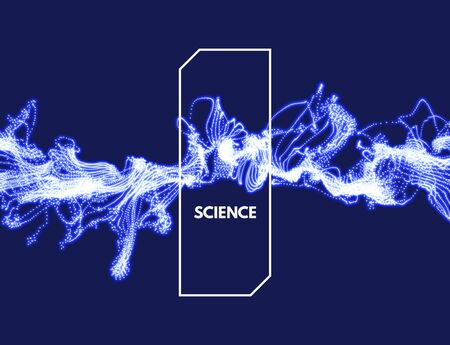 Flowing energy particles. 3d futuristic technology style. Abstract background. Vector illustration. Illustration