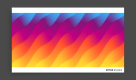 Cover design template with color gradients. Abstract background. Modern pattern. 3d vector Illustration for advertising, marketing, presentation.