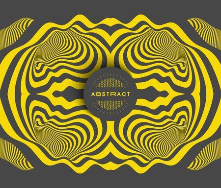 Pattern with optical illusion. Abstract striped background. Vector illustration. Illusztráció
