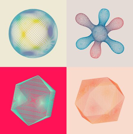 Sphere and crystal consisting of small particles. Object with dots. Molecular grid. 3d vector illustration. Connection structure for education and science.