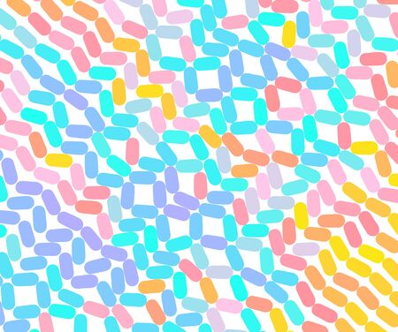 Abstract background with color ovals. Vector illustration for print, textile, fabric, package, wrapping or cover.