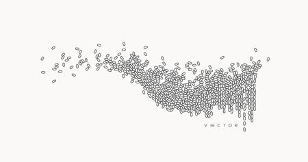 Sound wave. Vector illustration with dynamic effect.