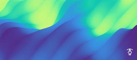 Mysterious landscape background. Mystic vector illustration. Trendy gradients. Can be used for advertising, marketing, presentation. Vektorgrafik