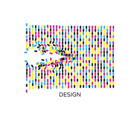 Abstract composition of a modern art style. Design for card, invitation or poster. Ilustração