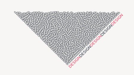 Minimalistic design. Abstract background with ovals. Vector illustration.