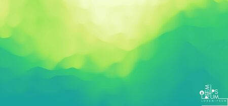 Landscape with green mountains. Mountainous terrain. Abstract nature background. Vector illustration. Çizim