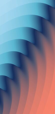 Abstract waved background with layers. Trendy covers design. Vector illustration in modern art style.