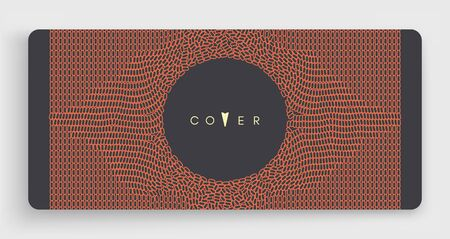 Cover design template. Many small ovals. Abstract background.3d vector illustration. Çizim