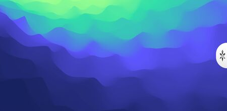 Wavy gradient backdrop. Abstract background with dynamic effect. Bright smooth transitions. 3D vector Illustration for design.  Ilustracja
