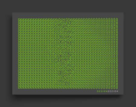 Cover design template. Many small ovals. Abstract background.3d vector illustration. Ilustração