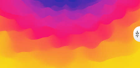Wavy gradient backdrop. Abstract background with dynamic effect. Bright smooth transitions. 3D vector Illustration for design.  Illusztráció