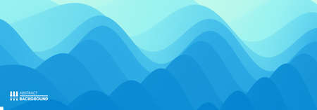 Water surface. Blue abstract background. Vector illustration for design. 일러스트