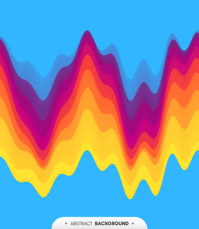 Abstract waveform background. 3d technology style. Vector illustration with sound waves. Ilustrace