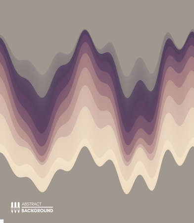 Abstract waveform background. 3d technology style. Vector illustration with sound waves.  イラスト・ベクター素材