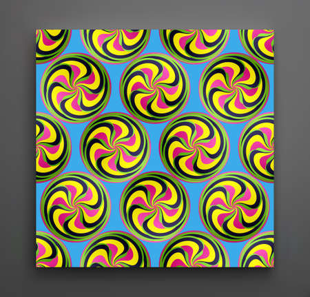 Abstract swirl background. Cover design template. Vector illustration. 向量圖像