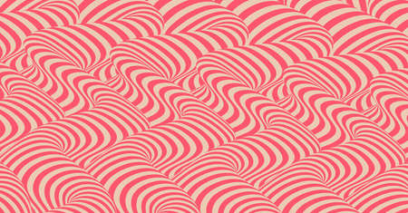Pattern with optical illusion. Abstract 3D geometrical background. Vector illustration.