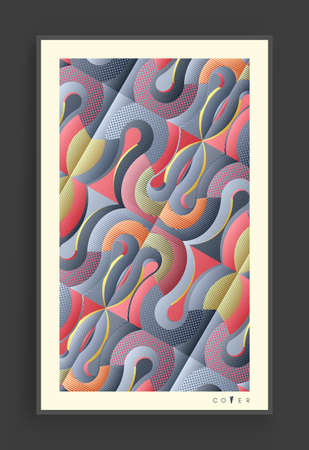 Cover design template. Abstract colorful geometric design. Vector illustration. Can be used for advertising, marketing or presentation. Ilustração