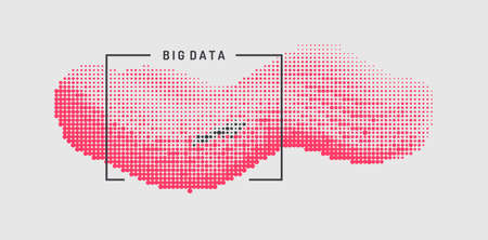 Abstract digital wave with dynamic particles. Sound wave. Big data visualization. Vector illustration.