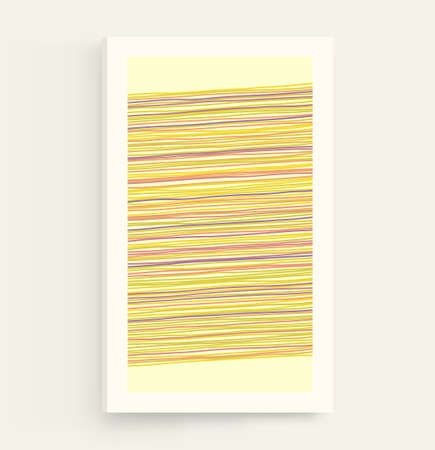 Thin horizontal lines background. Geometric wallpaper with stripes. Linear pattern. Cover design template. Vector illustration. Ilustração Vetorial