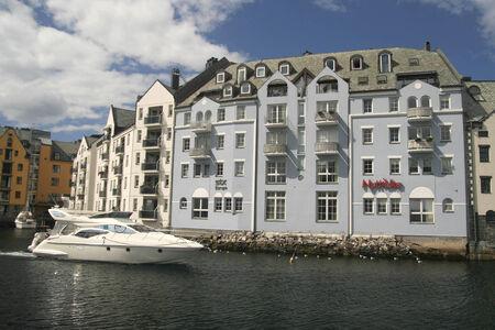 alesund: Yacht in Alesund Norway