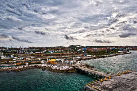 Aruba port Stock Photo - 11403398