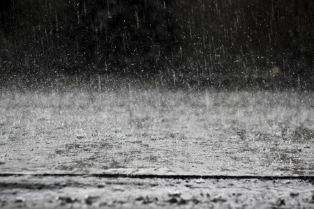 gush: heavy rain