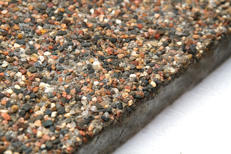 Stone Surface With Marble Chips View Off The Edges Of Slab Photo