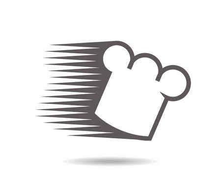 Chef's hat rushing in a hurry. Logo