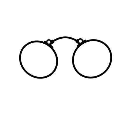 Old fashioned glasses. Vintage glasses