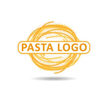 Italian pasta restaurant or bar logo