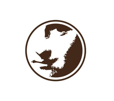 Mona Lisa look. Round logo