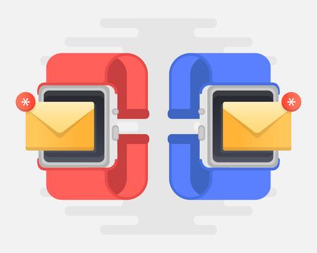 Pop Up Mail on Smartwatch